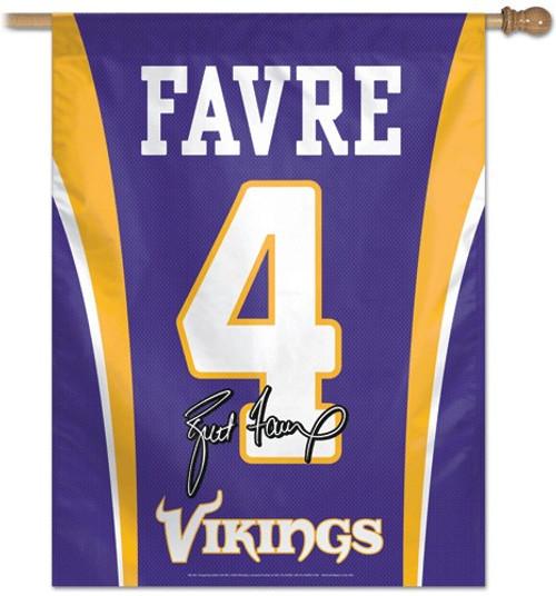 Minnesota Vikings Banner 27x37 Vertical Brett Favre Jersey Design