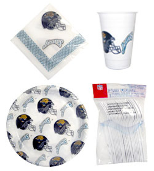 Jacksonville Jaguars Dinnerware Set Plastic 96 Piece