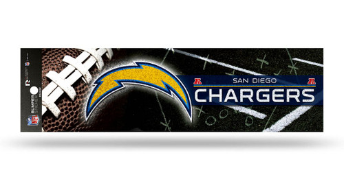 Los Angeles Chargers Decal Bumper Sticker Glitter San Diego Throwback