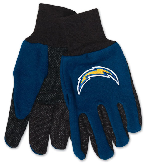 Los Angeles Chargers Gloves Two Tone Style Youth Size