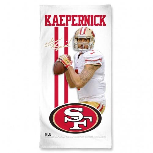 San Francisco 49ers Towel 30x60 Beach Style Colin Kaepernick Design