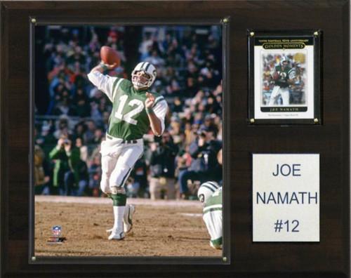 New York Jets Plaque 12x15 Joe Namath Design