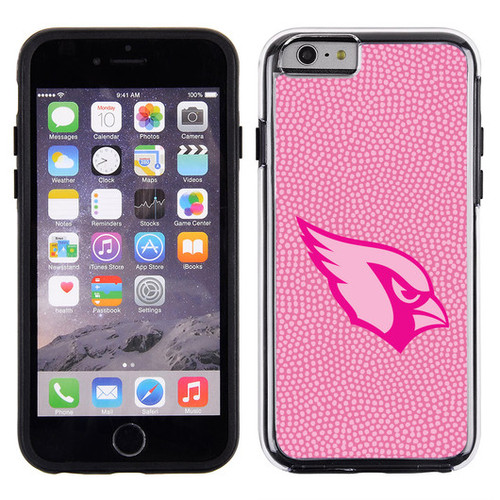 Arizona Cardinals Phone Case Pink Football Pebble Grain Feel iPhone 6