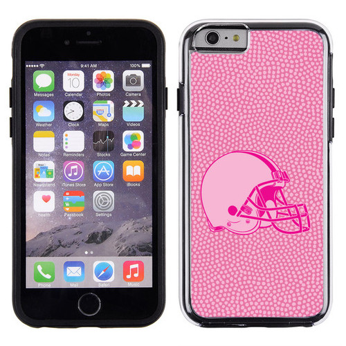 Cleveland Browns Phone Case Pink Football Pebble Grain Feel iPhone 6 Case