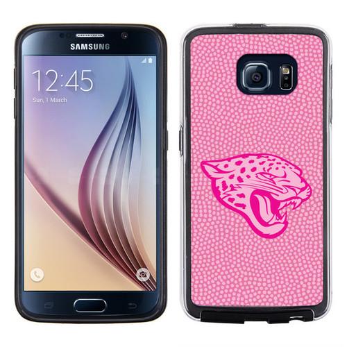 Jacksonville Jaguars Pink NFL Football Pebble Grain Feel Samsung Galaxy S6 Case -
