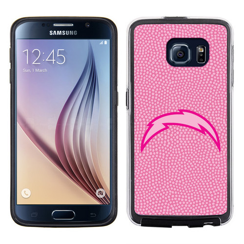 San Diego Chargers Pink NFL Football Pebble Grain Feel Samsung Galaxy S6 Case -