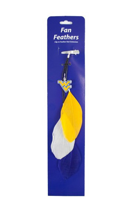 West Virginia Mountaineers Team Color Feather Hair Clip