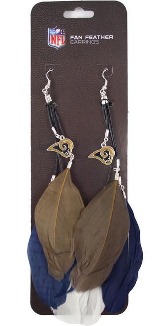 Los Angeles Rams Team Color Feather Earrings CO