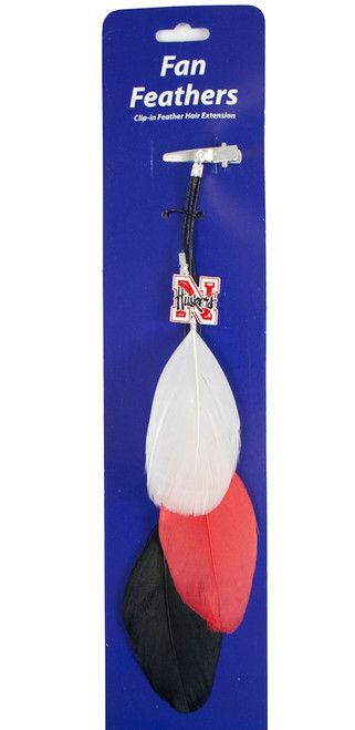 Nebraska Cornhuskers Team Color Feather Hair Clip