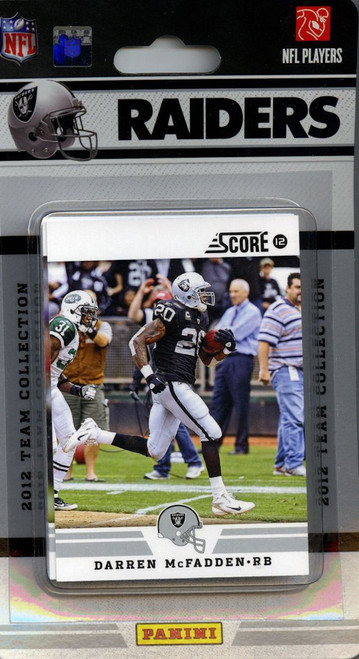Oakland Raiders 2012 Score Team Set