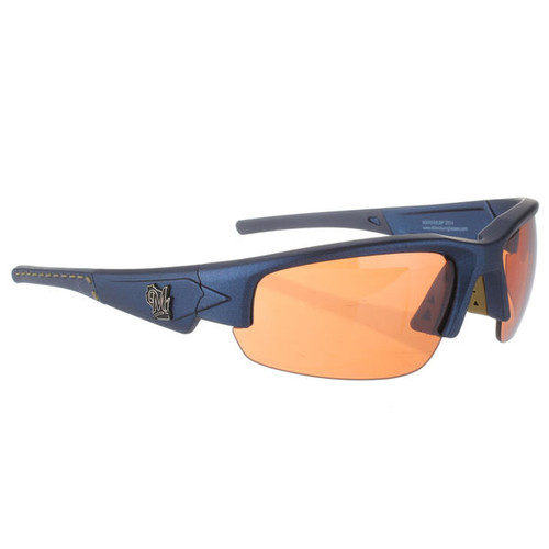 Milwaukee Brewers Sunglasses - Dynasty 2.0 Blue with Blue Tips