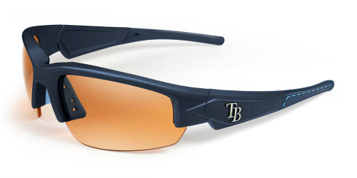 Tampa Bay Rays Sunglasses - Dynasty 2.0 Blue with Blue Tips & Light Blue Stich
