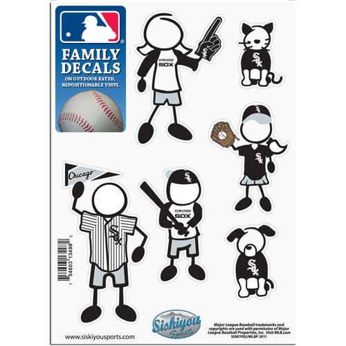 Chicago White Sox Decal 5x7 Family Sheet