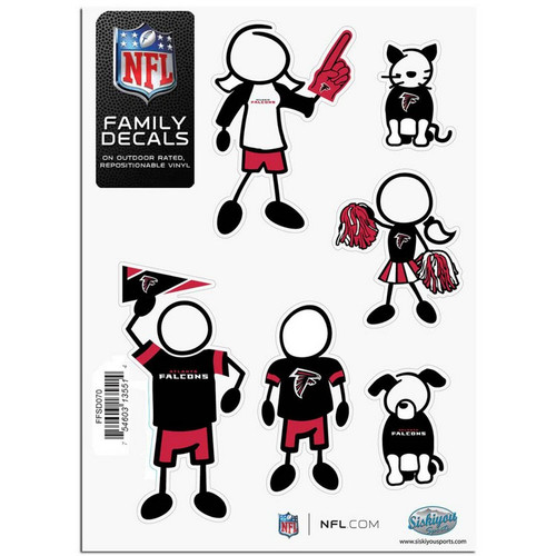 Atlanta Falcons Decal 5x7 Family Sheet