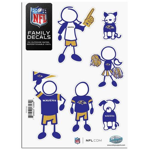 Baltimore Ravens Decal 5x7 Family Sheet