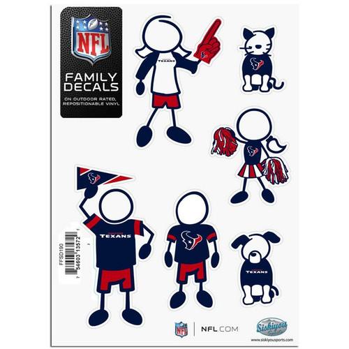 Houston Texans Decal 5x7 Family Sheet