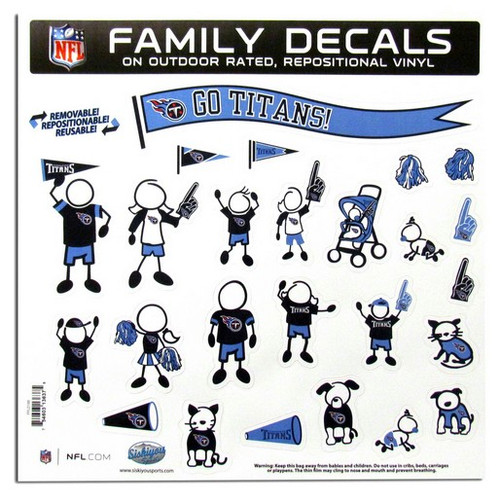 Tennessee Titans Decal 11x11 Family Sheet