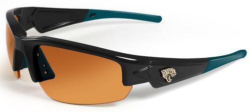 Jacksonville Jaguars Sunglasses - Dynasty 2.0 Black with Teal Tips