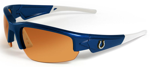 Indianapolis Colts Sunglasses - Dynasty 2.0 Blue with White Tips