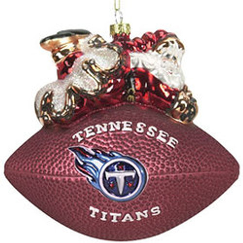 Tennessee Titans Ornament 5 1/2 Inch Peggy Abrams Glass Football