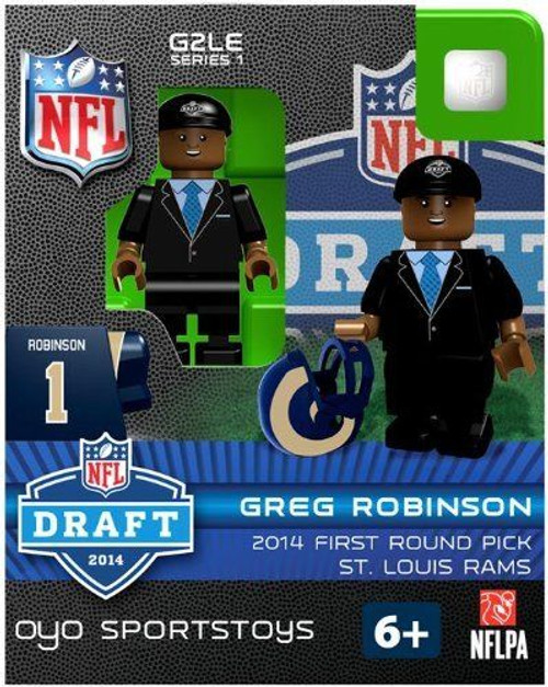 Los Angeles Rams Figurine 2014 Draft Pick OYO Sportstoys Greg Robinson St. Louis Throwback
