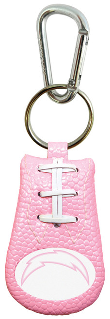Los Angeles Chargers Keychain Football Pink