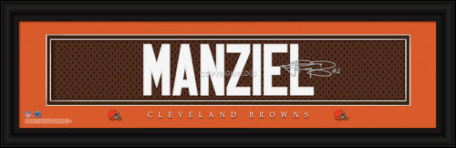 Cleveland Browns Print 8x24 Signature Style Johnny Manziel