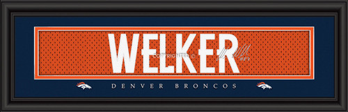 Denver Broncos Print 8x24 Signature Style Wes Welker