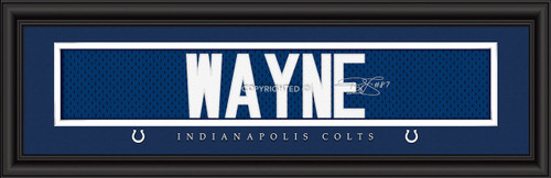 Indianapolis Colts Print 8x24 Signature Style Reggie Wayne