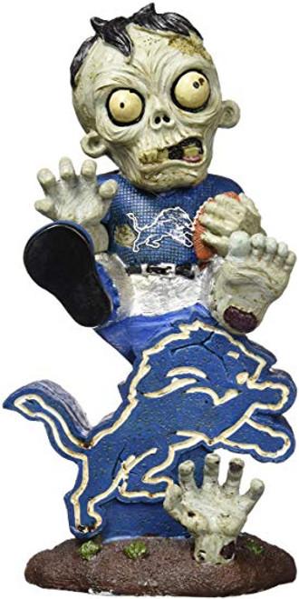 Detroit Lions Zombie On Logo Figurine