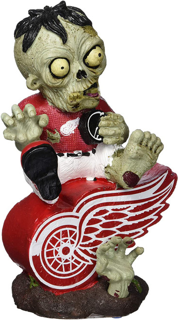Detroit Red Wings Zombie Figurine - On Logo