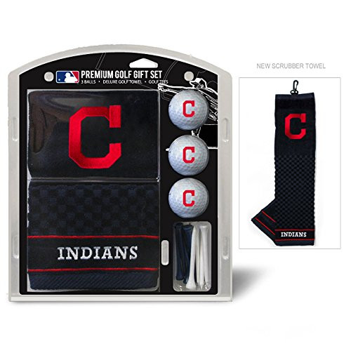 Cleveland Indians Golf Gift Set with Embroidered Towel