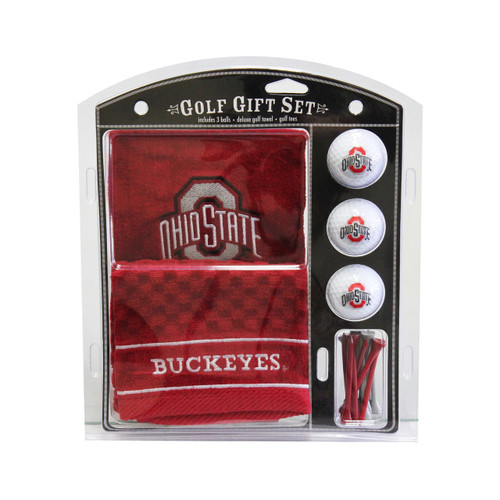 Ohio State Buckeyes Golf Gift Set with Embroidered Towel