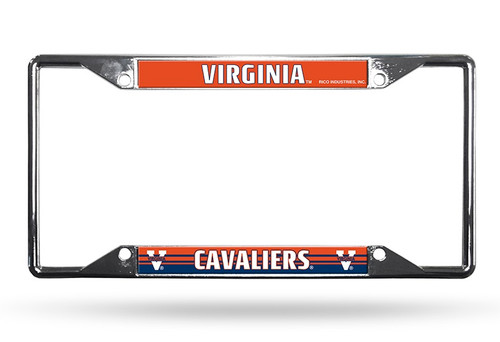Virginia Cavaliers License Plate Frame Chrome EZ View