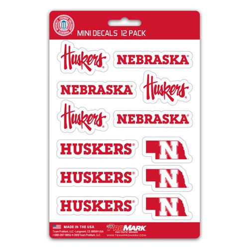 Nebraska Cornhuskers Decal Set Mini 12 Pack