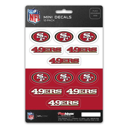 San Francisco 49ers Decal Set Mini 12 Pack