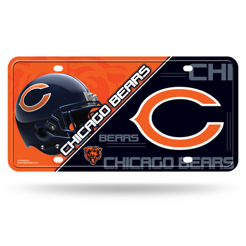 Chicago Bears License Plate Metal