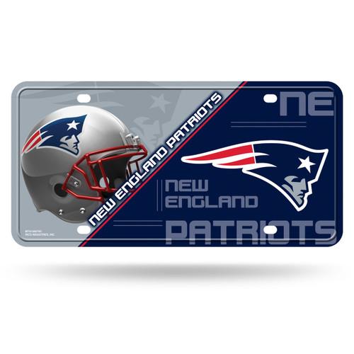 New England Patriots License Plate Metal