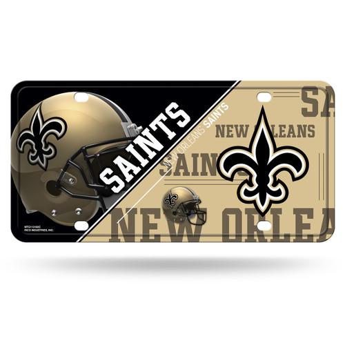 New Orleans Saints License Plate Metal