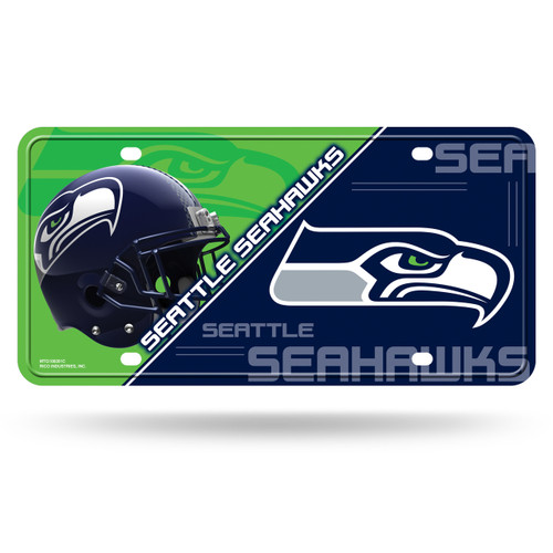 Seattle Seahawks License Plate Metal