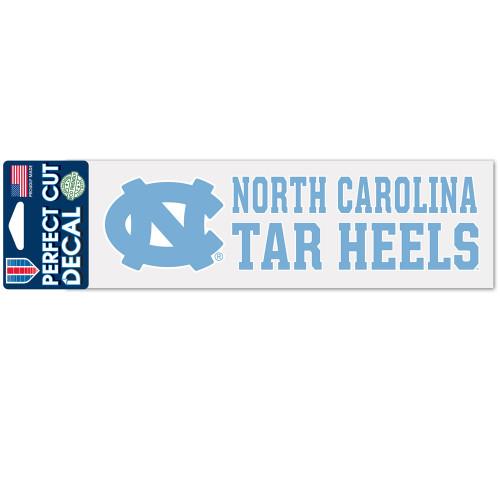 North Carolina Tar Heels Decal 3x10 Perfect Cut Color - Special Order