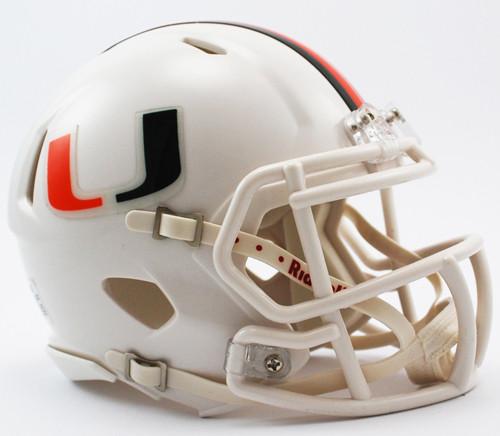 Miami Hurricanes Helmet Riddell Replica Mini Speed Style