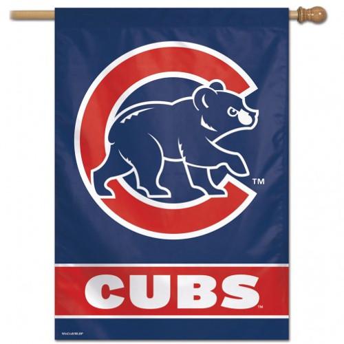 Chicago Cubs Banner 28x40 Vertical