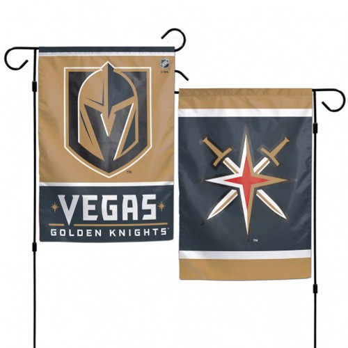 Vegas Golden Knights Flag 12x18 Garden Style 2 Sided