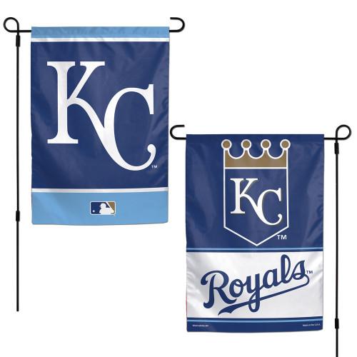 Kansas City Royals Flag 12x18 Garden Style 2 Sided