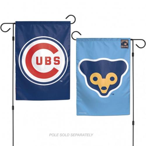 Chicago Cubs Flag 12x18 Garden Style Cooperstown Design