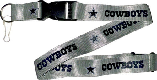 Dallas Cowboys Lanyard Silver
