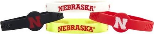 Nebraska Cornhuskers Bracelets 4 Pack Silicone