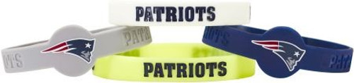 New England Patriots Bracelets 4 Pack Silicone