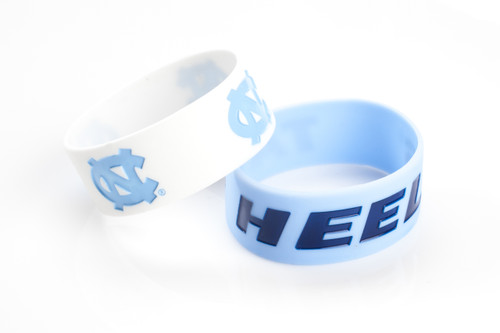 North Carolina Tar Heels Bracelets 2 Pack Wide - Special Order